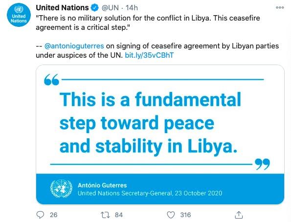 """【迪士尼彩乐下载】_联合国:历史性成就!利比亚内战双方达成""""永久""""停火协议"""