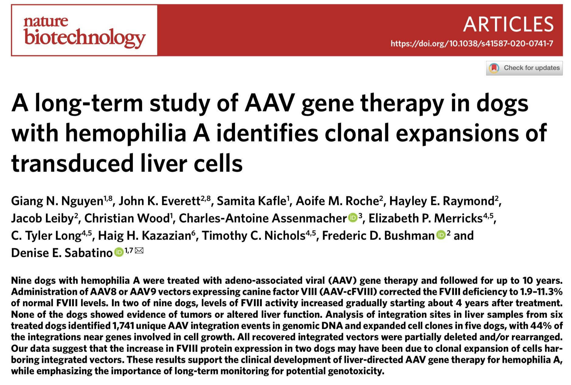 最安全基因治疗载体不安全?10年研究发现或增加肝癌风险