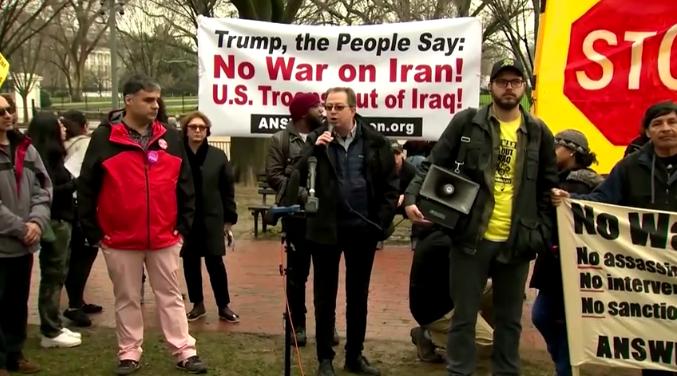 """華盛頓爆發反戰抗議 高喊""""美國撤出中東"""""""