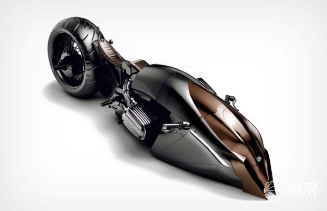 宝马概念摩托车,棱角分明、造型浮夸,网友不