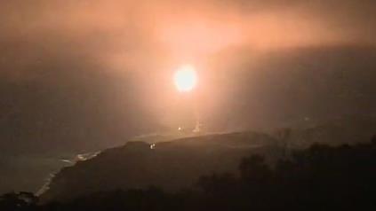"""台""""中科院""""24日晚间试射导弹。图源:台湾""""三立新闻网"""""""