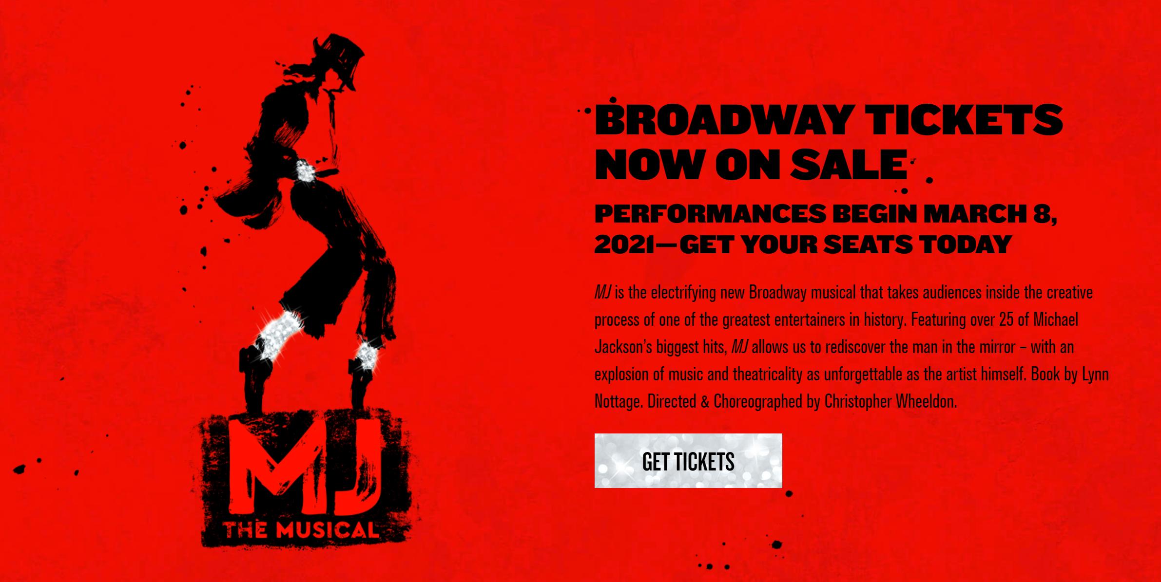 迈克尔·杰克逊传记音乐剧改档,延至明年3月百老汇预演