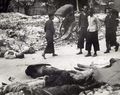图注:四川军阀混战时,可谓尸横遍野
