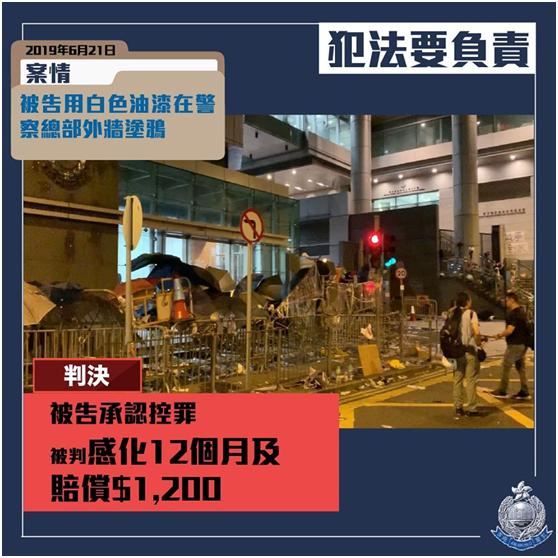 【波澜不惊是什么意思】_涉涂污港警总部外墙,香港大学生被判感化一年及赔偿1200港元