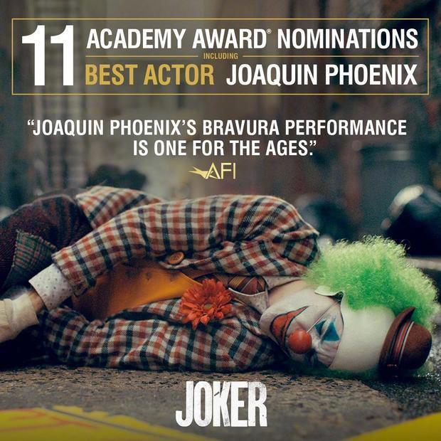 《小丑》1月17日起北美重映,全球票房已超10亿美元