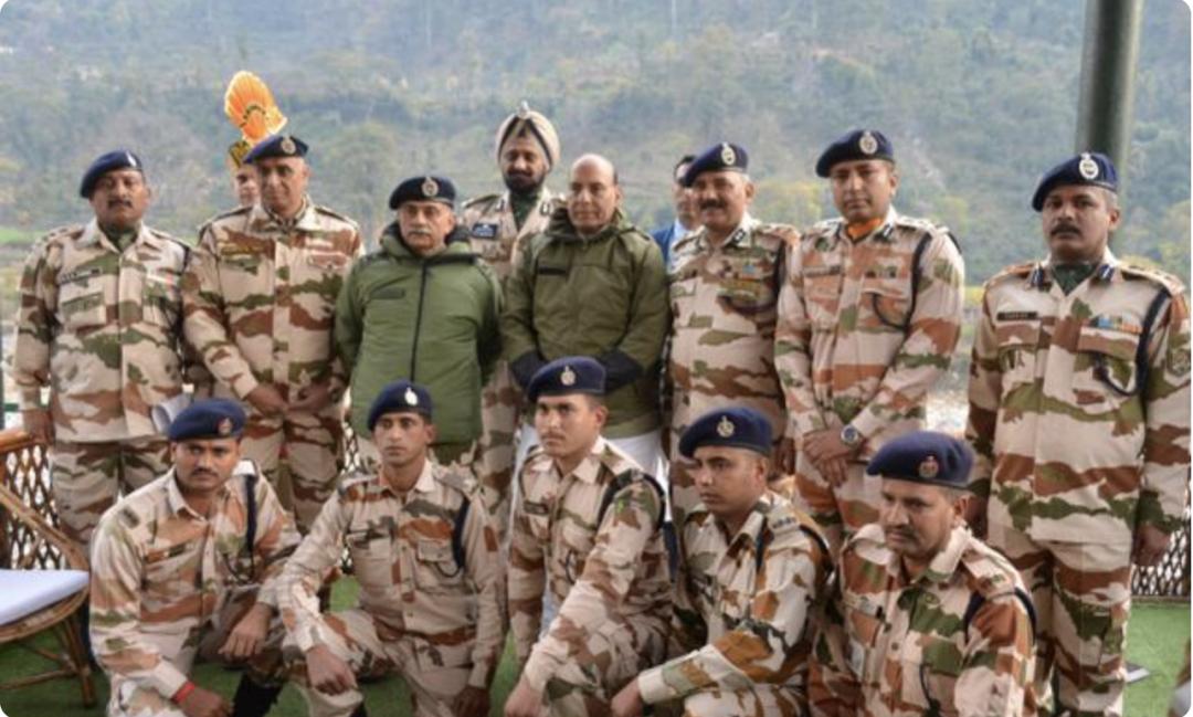 印度国防部长视察ITBP部队
