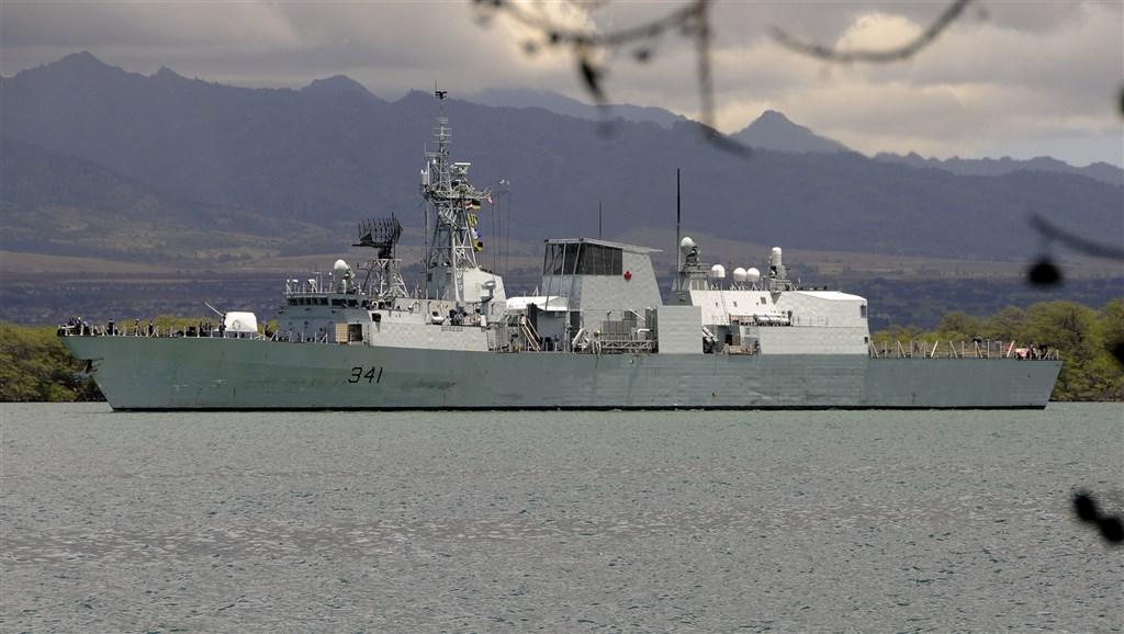 """2019年9月,加拿大""""渥太华""""号巡防舰曾航经台海。(图片来源:台湾""""中央社"""")"""
