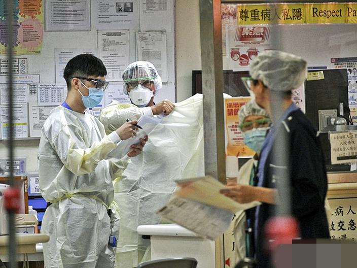 香港医护人员 图自港媒