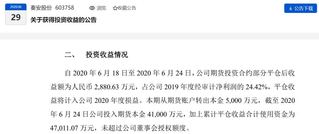 """炒期货7天赚了2880万 """"股神""""公司秦安股份怎么做到的?"""