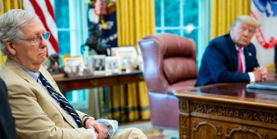 ▲资料图:麦康奈尔与特朗普。(Getty Images)