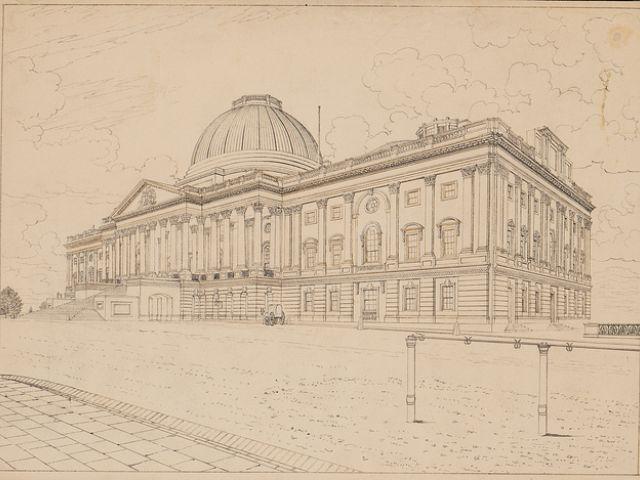 早期国会大厦设计图