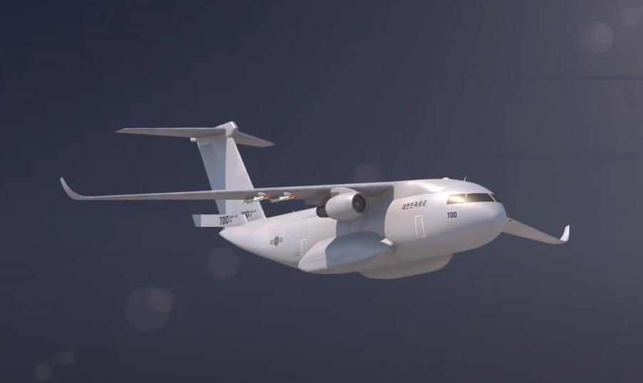 韩国展示的国产运输机效果图