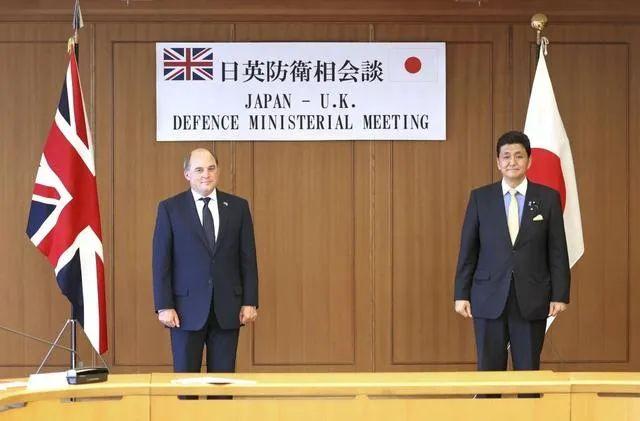 ▲7月20日, 日本防卫相岸信夫与英国国防大臣华莱士在防卫省举行会谈。 图片来源:看看新闻news视频截图