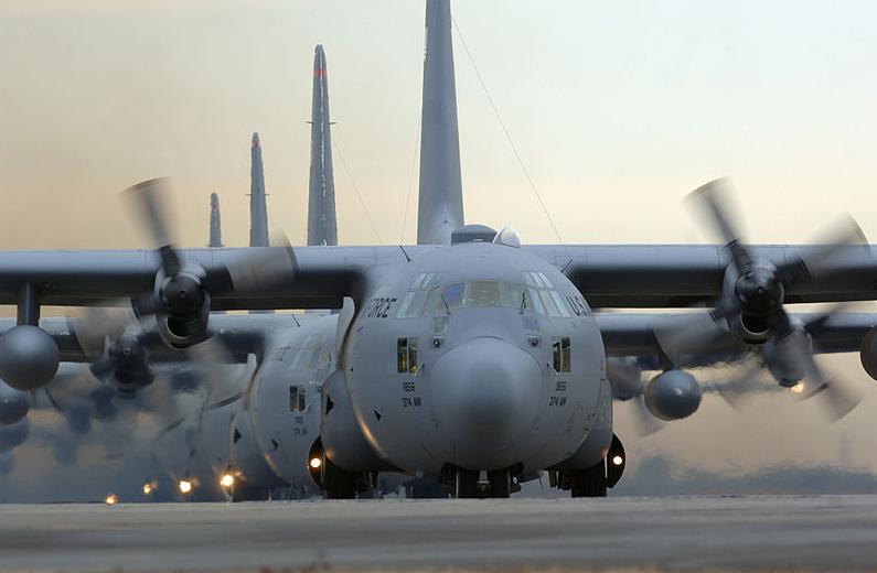 美国C-130战术军用运输机 资料图