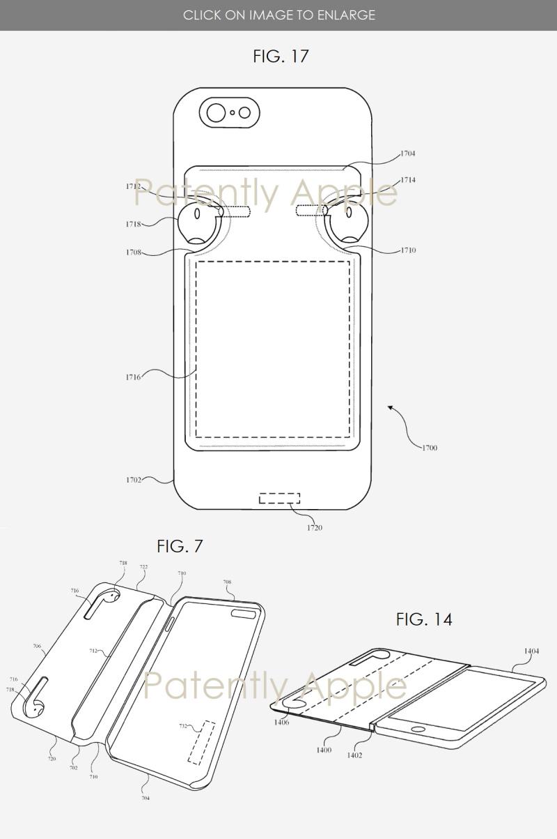 《【高德娱乐平台首页】苹果新专利:内置AirPods收纳模块的保护壳》