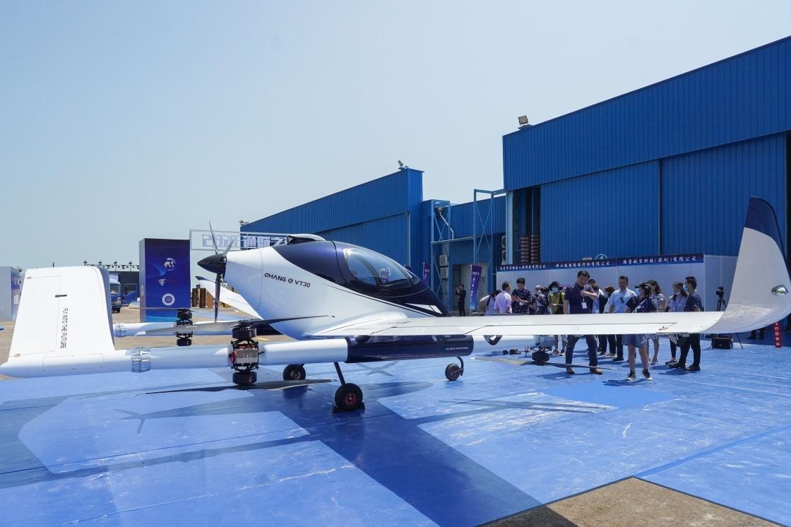 9月27日在珠海拍摄的长航距载人自动驾驶飞行器。新华社 图