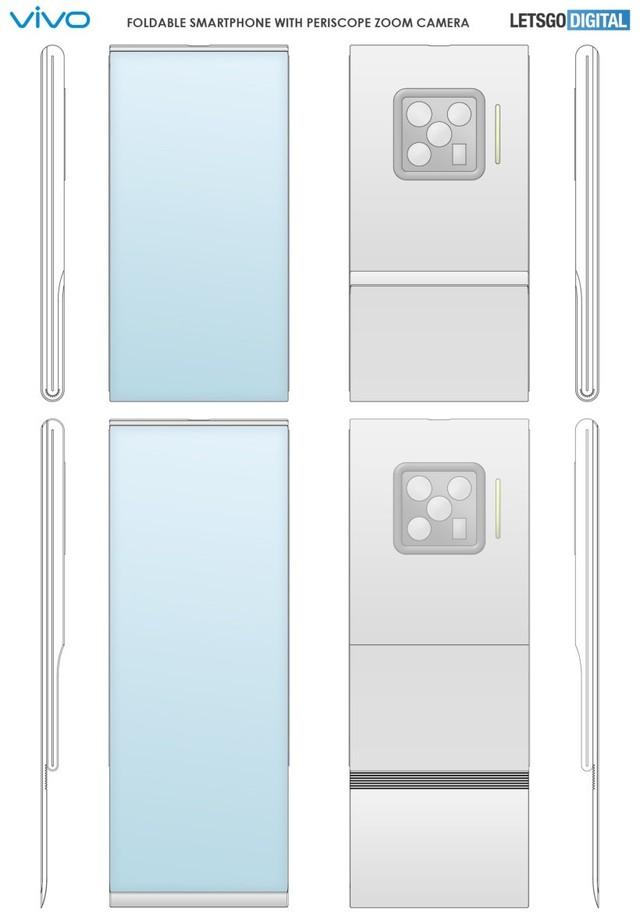 vivo折叠屏手机新专利曝光:正反面全是屏 致敬翻盖经典