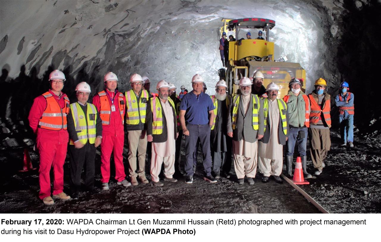 巴基斯坦水电发展局主席2020年参观达苏水电站