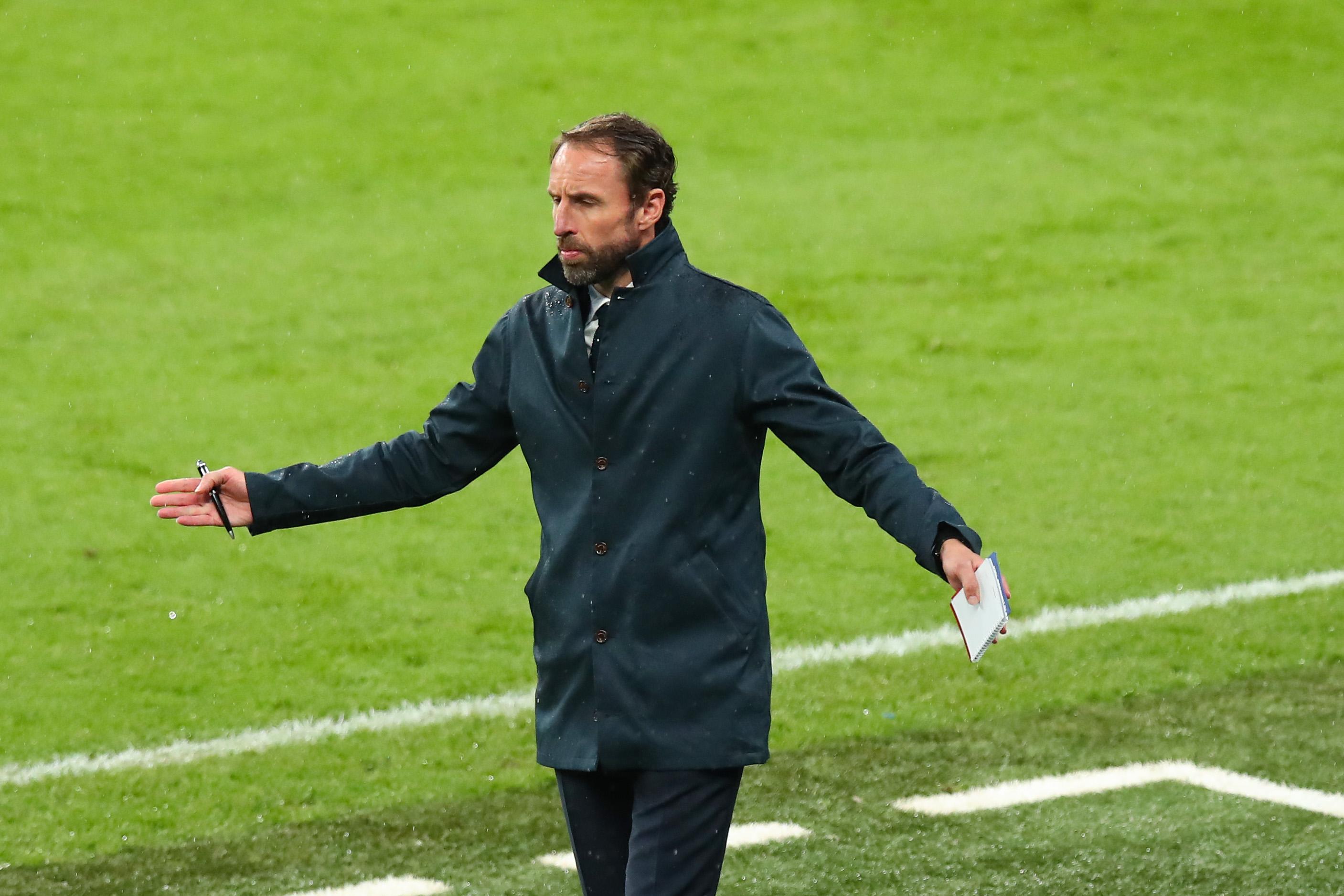 英格兰队主帅索斯盖特。