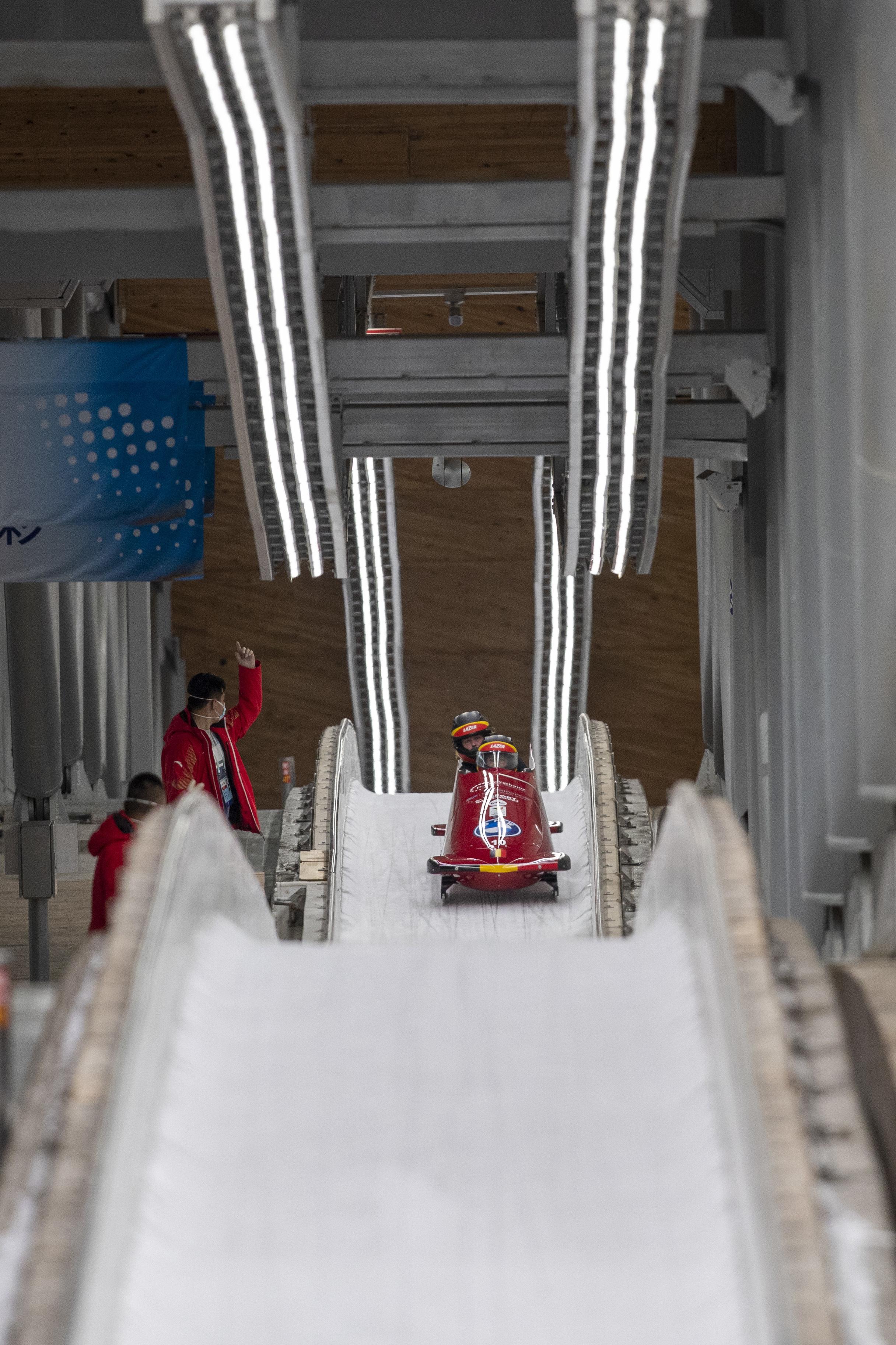 德国雪车队。