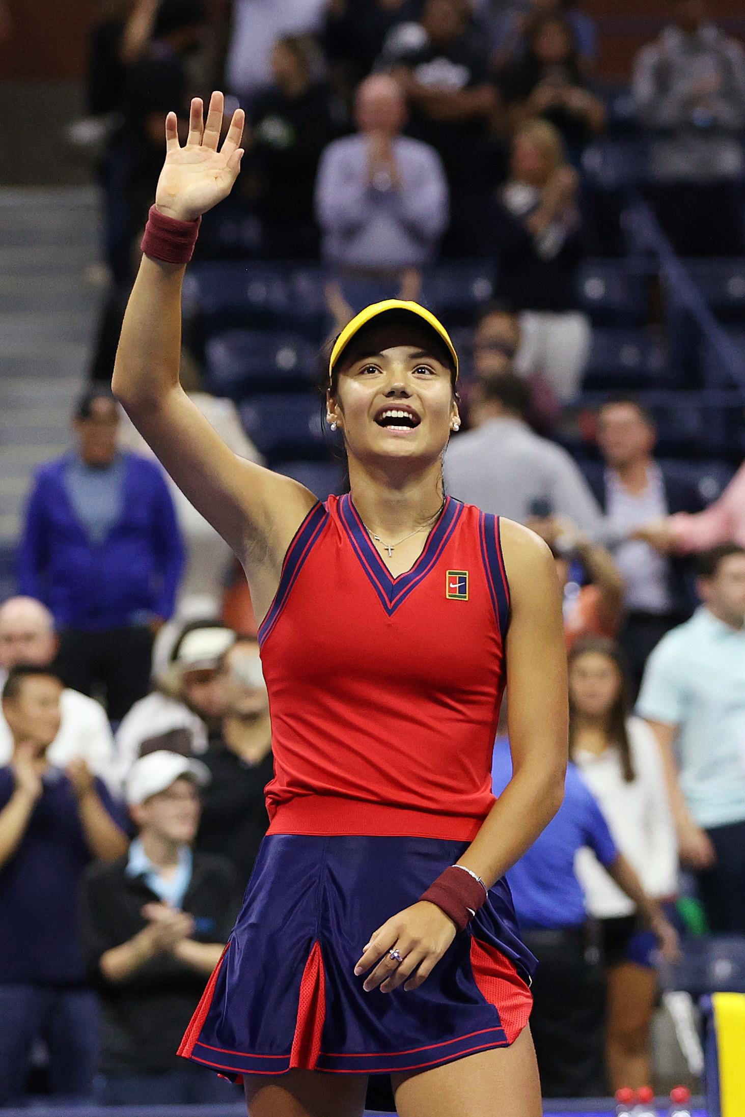 拉杜卡努历史性晋级美网决赛。