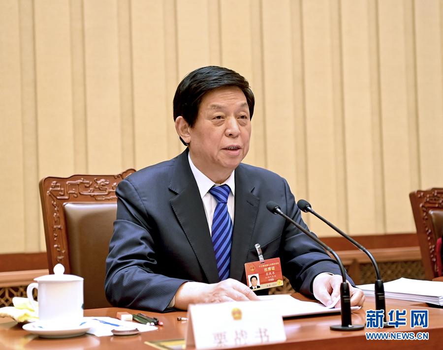 3月9日,十三届全国人大四次会议主席团在北京人民大会堂举行第二次会议。主席团常务主席栗战书主持会议。新华社记者 李学仁 摄