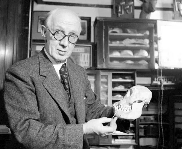 上图_ 魏敦瑞,德国解剖学家和体质人类学家,北京人化石的研究者之一