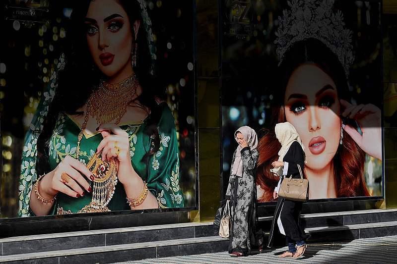 喀布尔街头过去的女性广告,现在已经被涂掉。图片:CFP