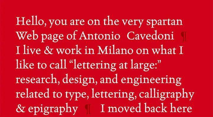 Antonio Cavedoni 的个人官网.