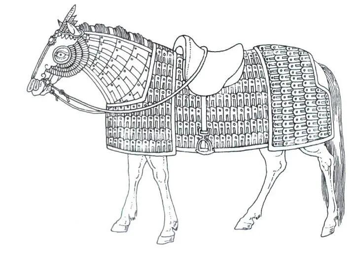 上图_ 宋代重骑兵马铠