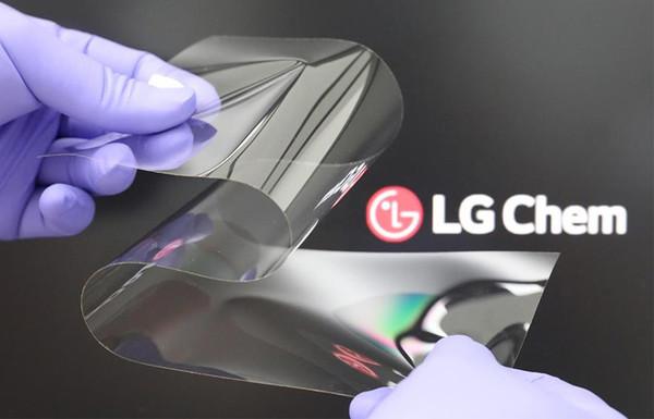 LG开发出新式可折叠表现原料