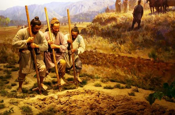 上图_ 古代农民耕作