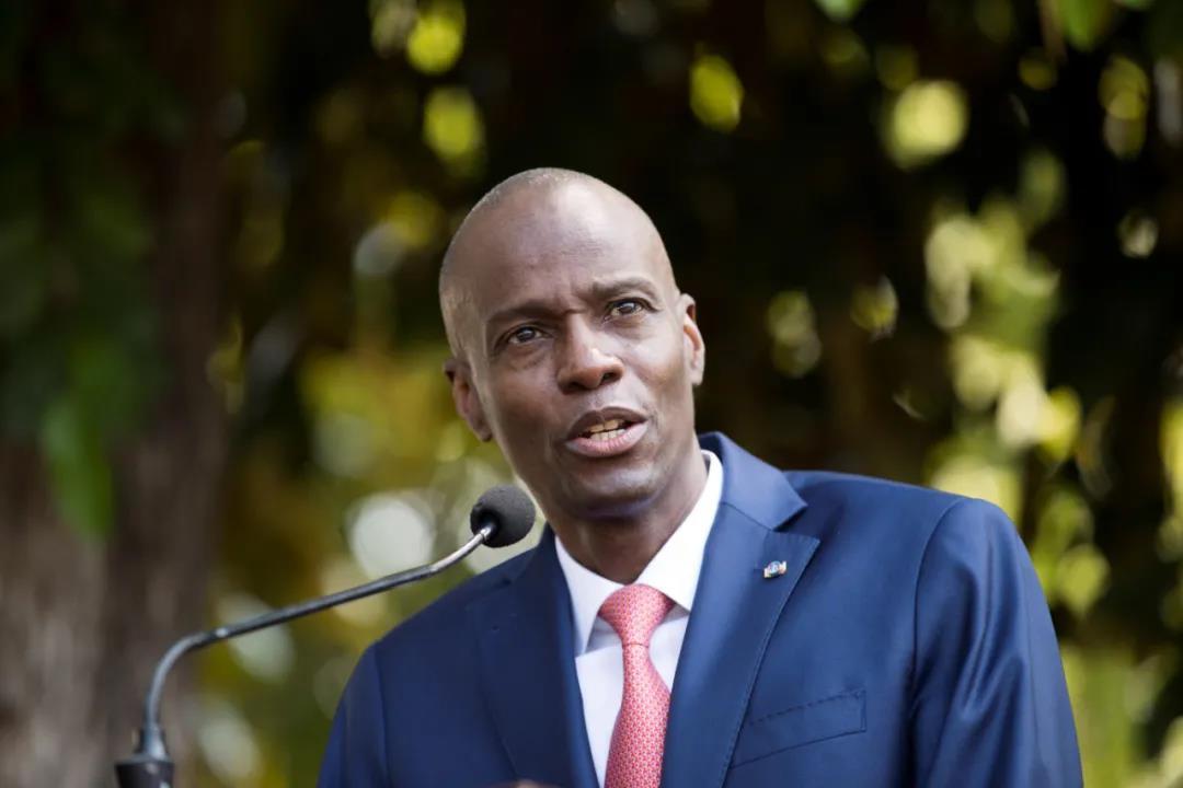 资料图:海地总统莫伊兹。IC photo
