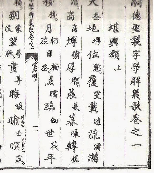▲越南出版的字典,大字是汉字,小字是喃字解释