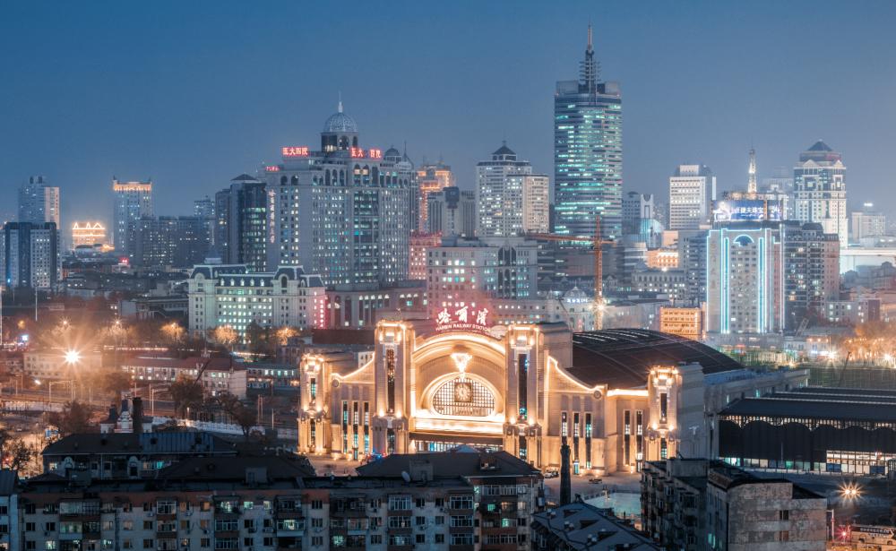 哈尔滨夜景