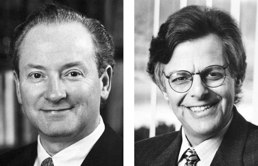 Robert Merton(左)和Myron Scholes(右)