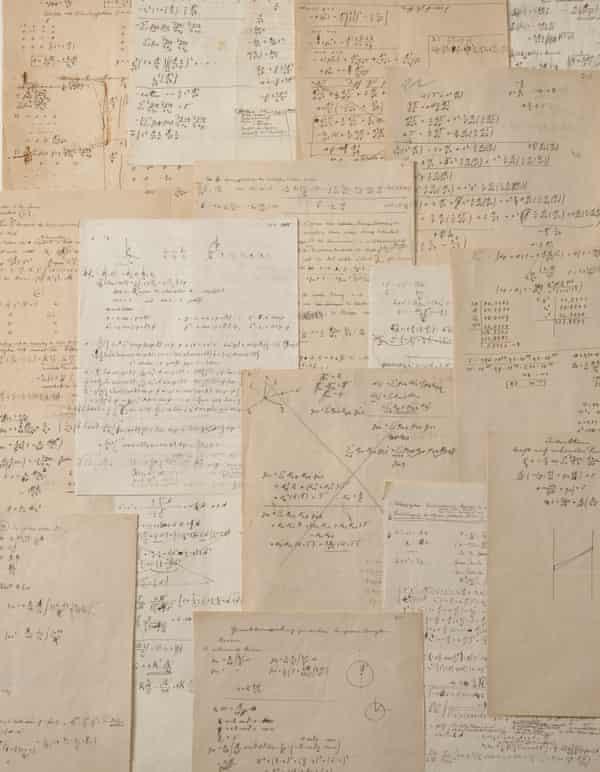 即将拍卖的爱因斯坦手稿。来源:佳士得拍卖行