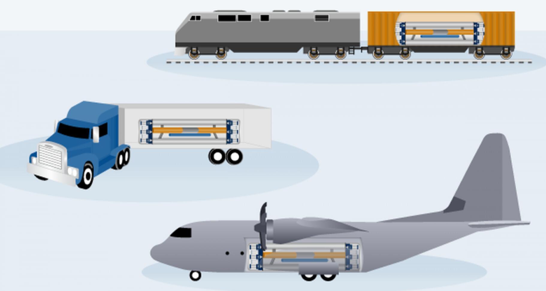 可机动部署小型核反应堆概念图
