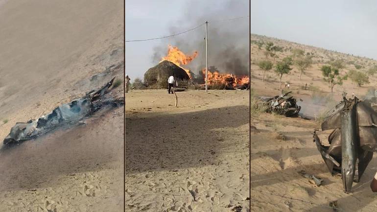 印度空军8月25日坠毁的米格-21战斗机现场。今日印度图