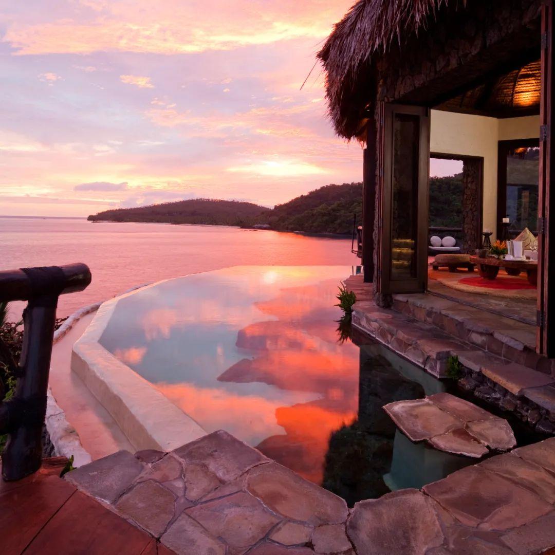 △悠闲的斐济时光,欣赏静谧的日出日落/Laucala Island