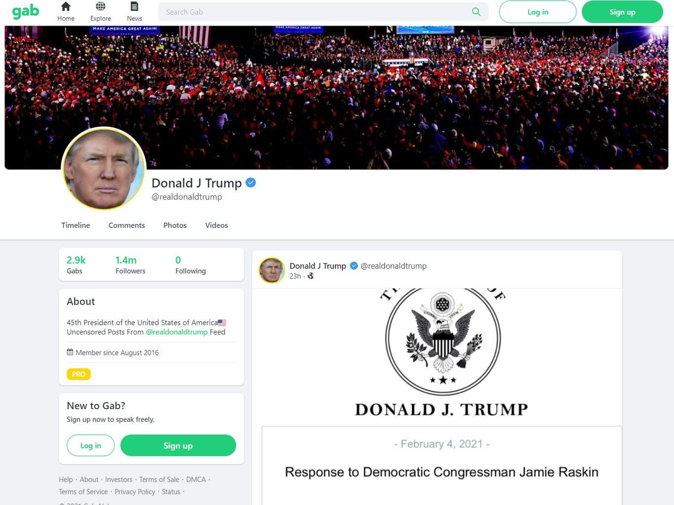 被推特等平台封杀一个月后,特朗普重返社交媒体