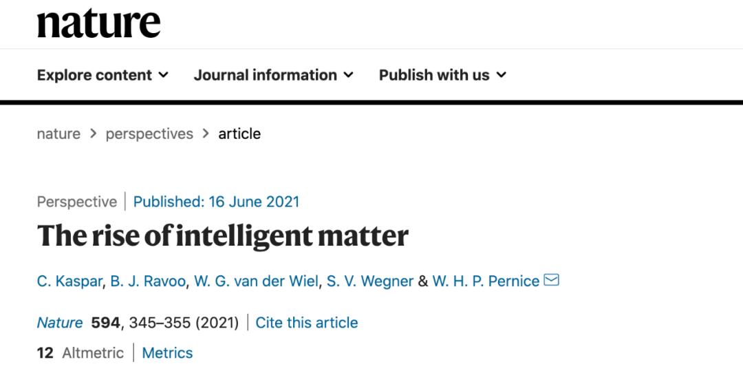 """脑洞大开!Nature发文:人工智能之后,""""智能物质""""计算崛起?"""