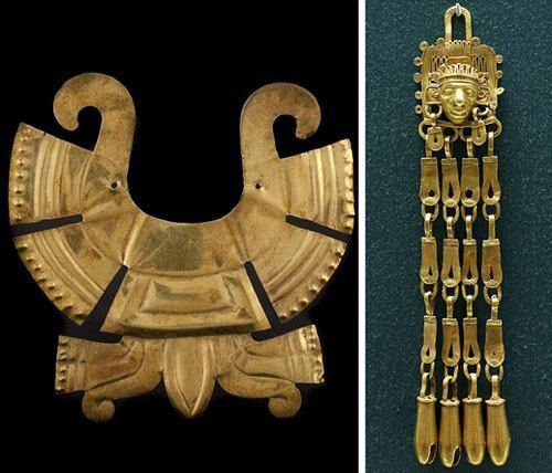 蒙特苏马时期的金质鼻饰(古墨西哥文明——阿兹特克帝国)