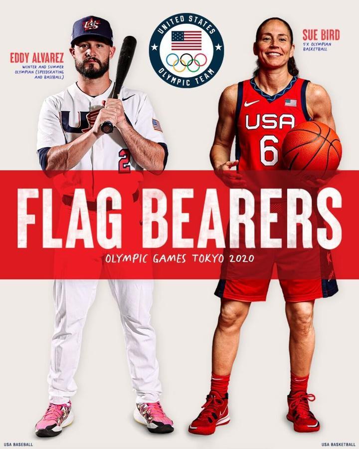 杜兰特无缘!美国公布开幕式旗手 棒球和女篮运动员当选
