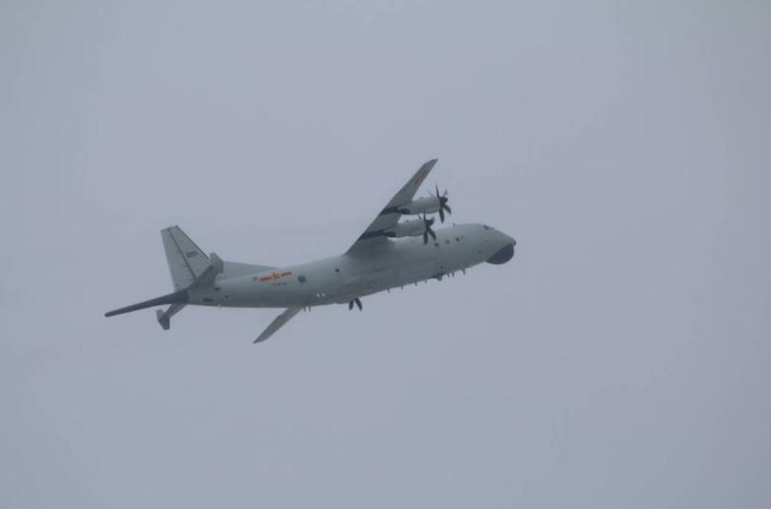 台防务部门发布的解放军运-8反潜机(同型机)