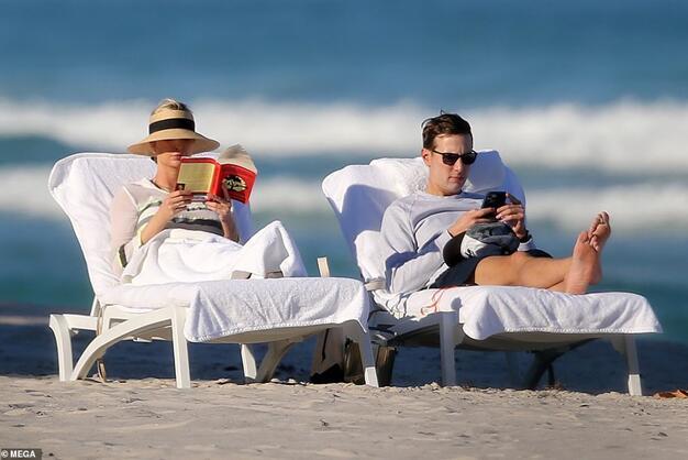 离开华盛顿后,伊万卡夫妇迈阿密生活照被英媒曝光