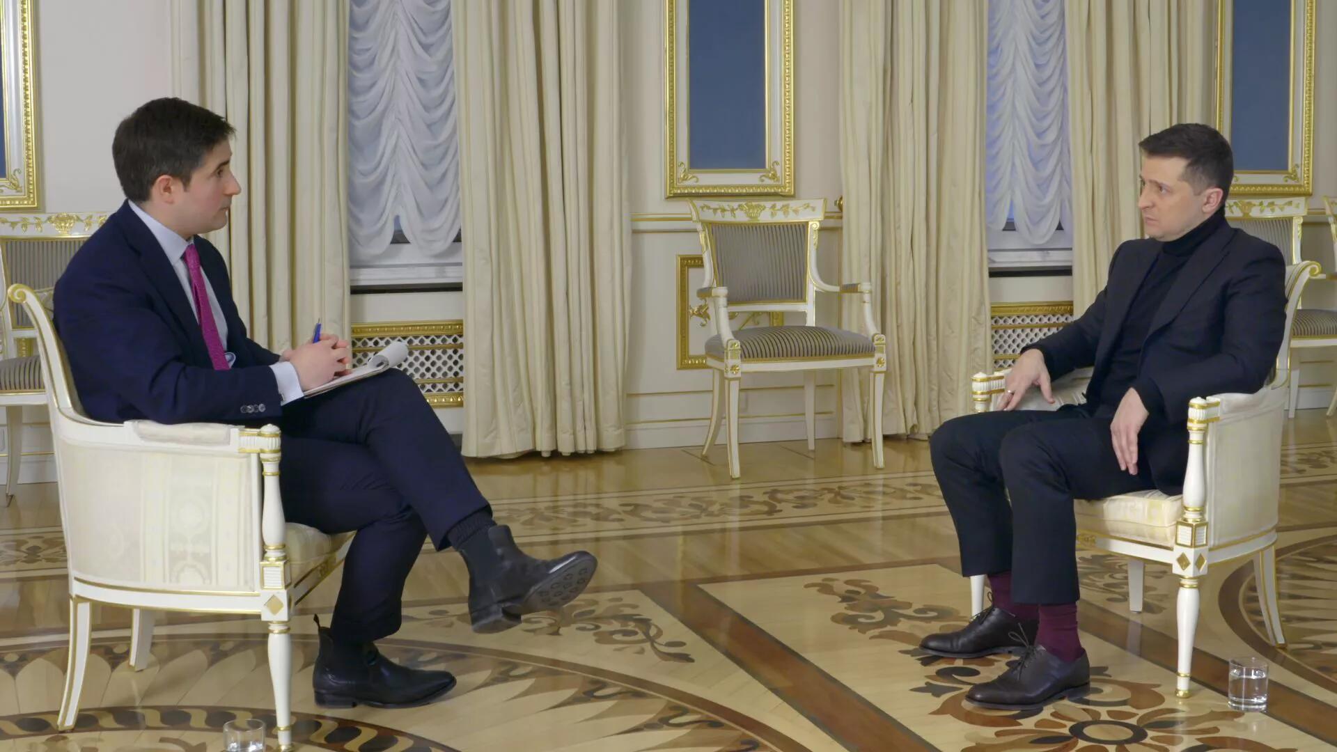 (泽连斯基1月31日接受采访。)