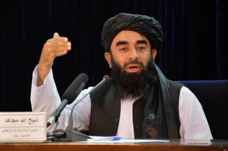 阿富汗塔利班发言人穆贾希德 资料图