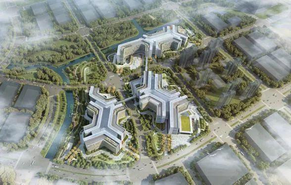 曝光的阿里巴巴北京总部鸟瞰设计图