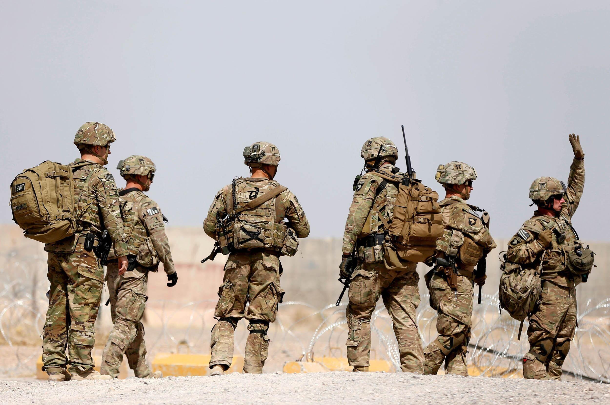 在阿富汗的美军士兵